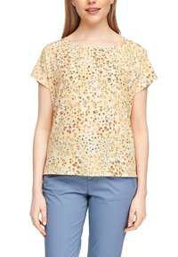 s.Oliver - Print T-shirt - yellow aop - 3
