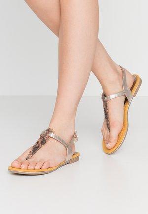 T-bar sandals - saffron