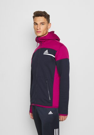 HOODIE AEROREADY HOODED TRACK  - veste en sweat zippée - legink/powber