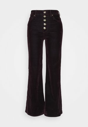 ICON BOOTCUT - Trousers - deep burgundy