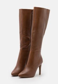 Steven New York - EFFINA - High heeled boots - cognac - 2