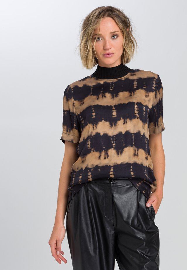 Blouse - black varied