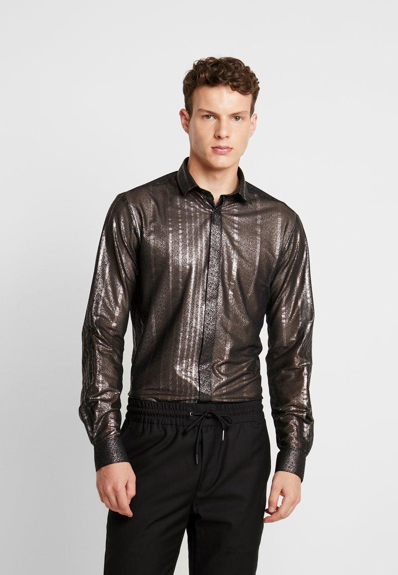 Twisted Tailor - CROSSER SHIRT - Shirt - black