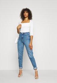 Glamorous Tall - RUCHEL PANEL LONG SLEEVE - Long sleeved top - off-white - 1