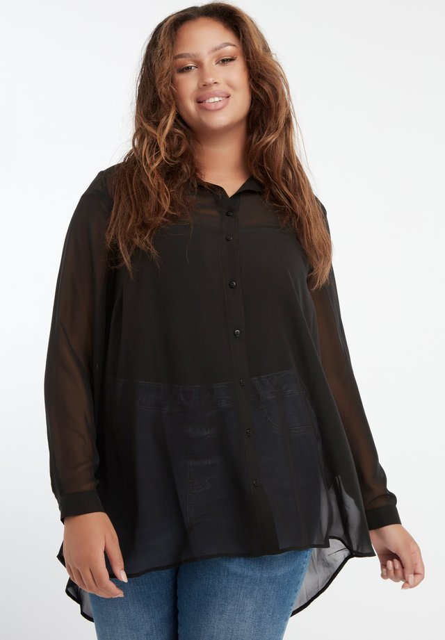 TRANSPARENT  - Button-down blouse - black
