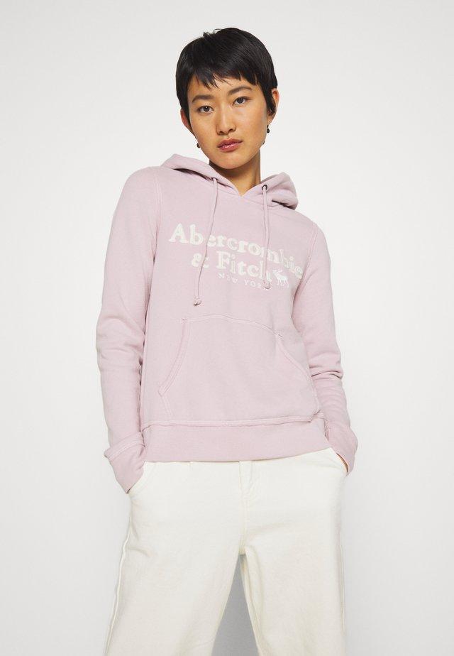 HERITAGE LOGO POPOVER - Bluza z kapturem - pink