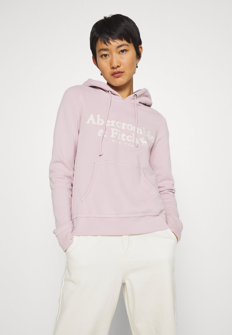 Abercrombie & Fitch - HERITAGE LOGO POPOVER - Hoodie - pink