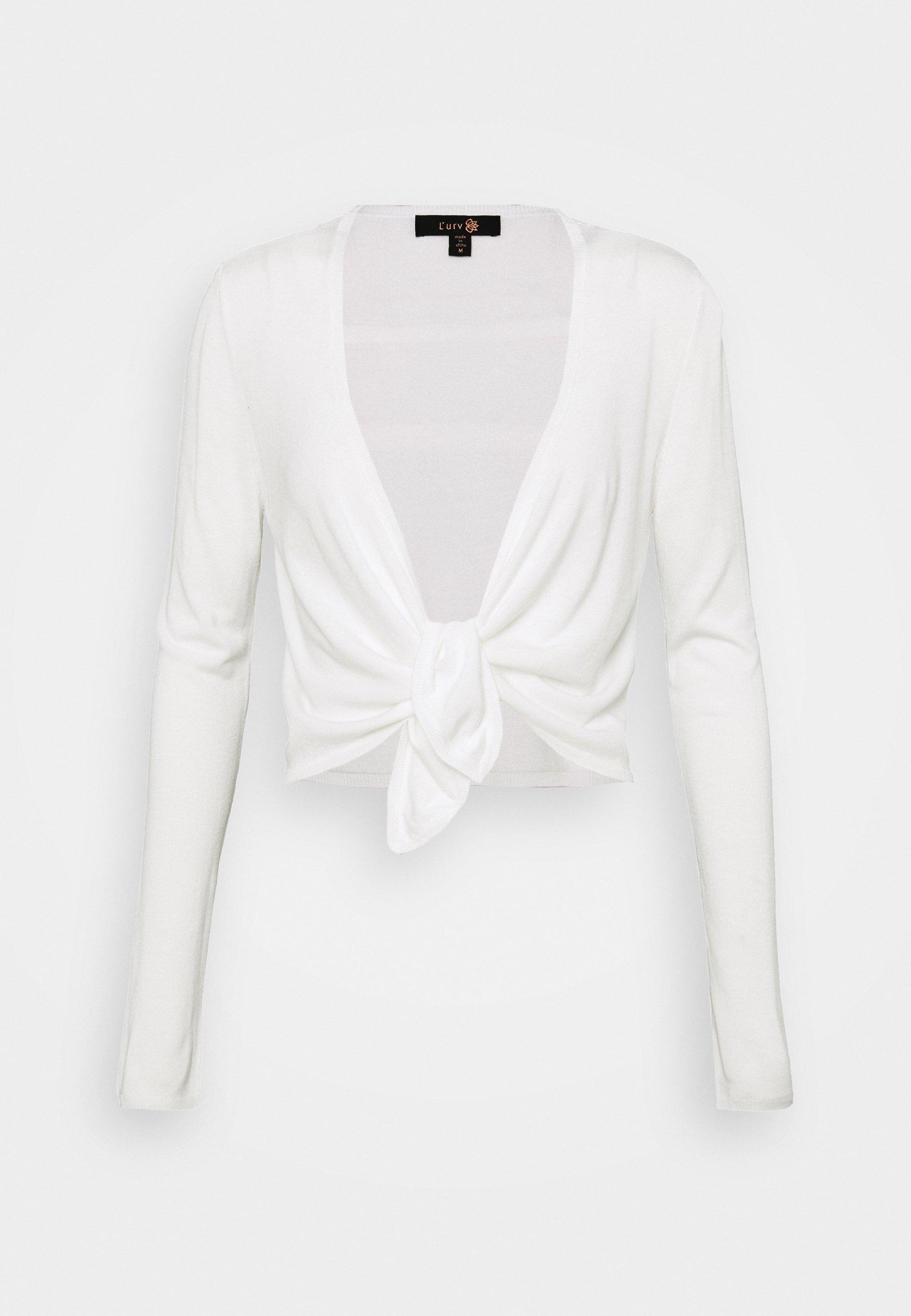 Women COCOON TIE FRONT - Zip-up sweatshirt