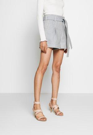 BELTED HIGH WAIST - Shorts - light blue