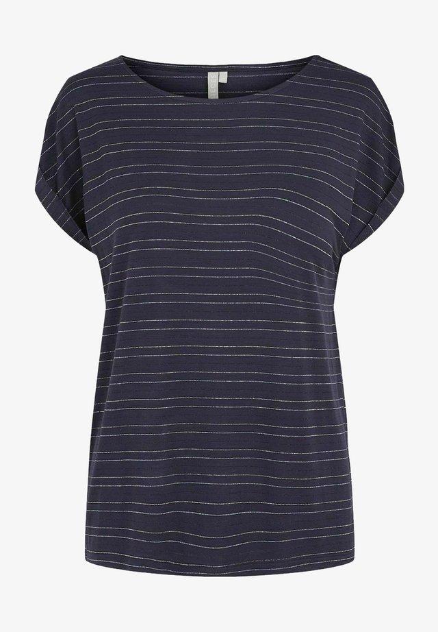 LUREXSTREIFEN - T-shirt imprimé - maritime blue