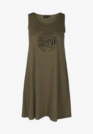 SLEEVELESS - Jersey dress - ivy green road