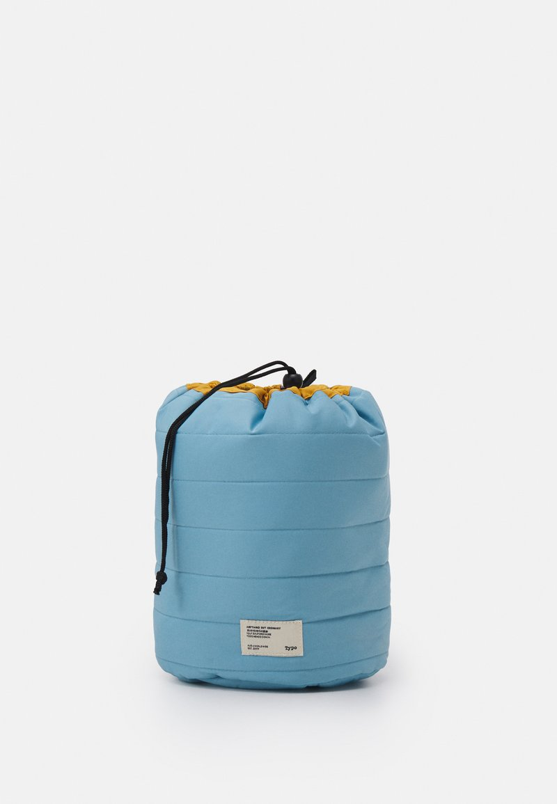 TYPO - UTILITY CARRY ALL CASE UNISEX - Wash bag - dusty blue/washed mustard