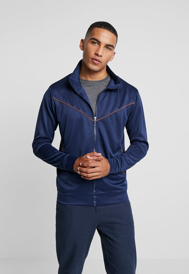 TRACK TOP WITH WESTERN POCKETS - Sportovní bunda - navy