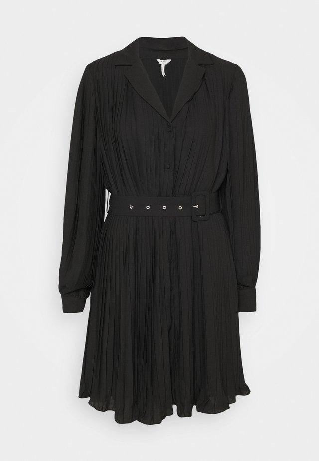 OBJCOSME SHORT DRESS - Abito a camicia - black