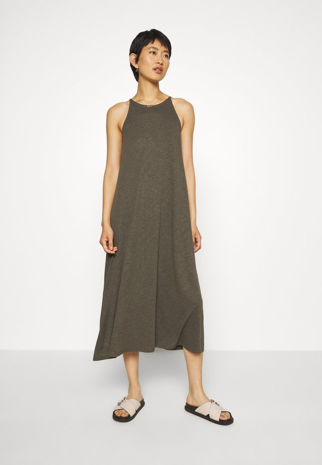 CAMI DRESS - Maxi dress - dried olive
