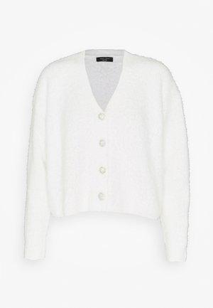 FLUFFY CARDI - Cardigan - white