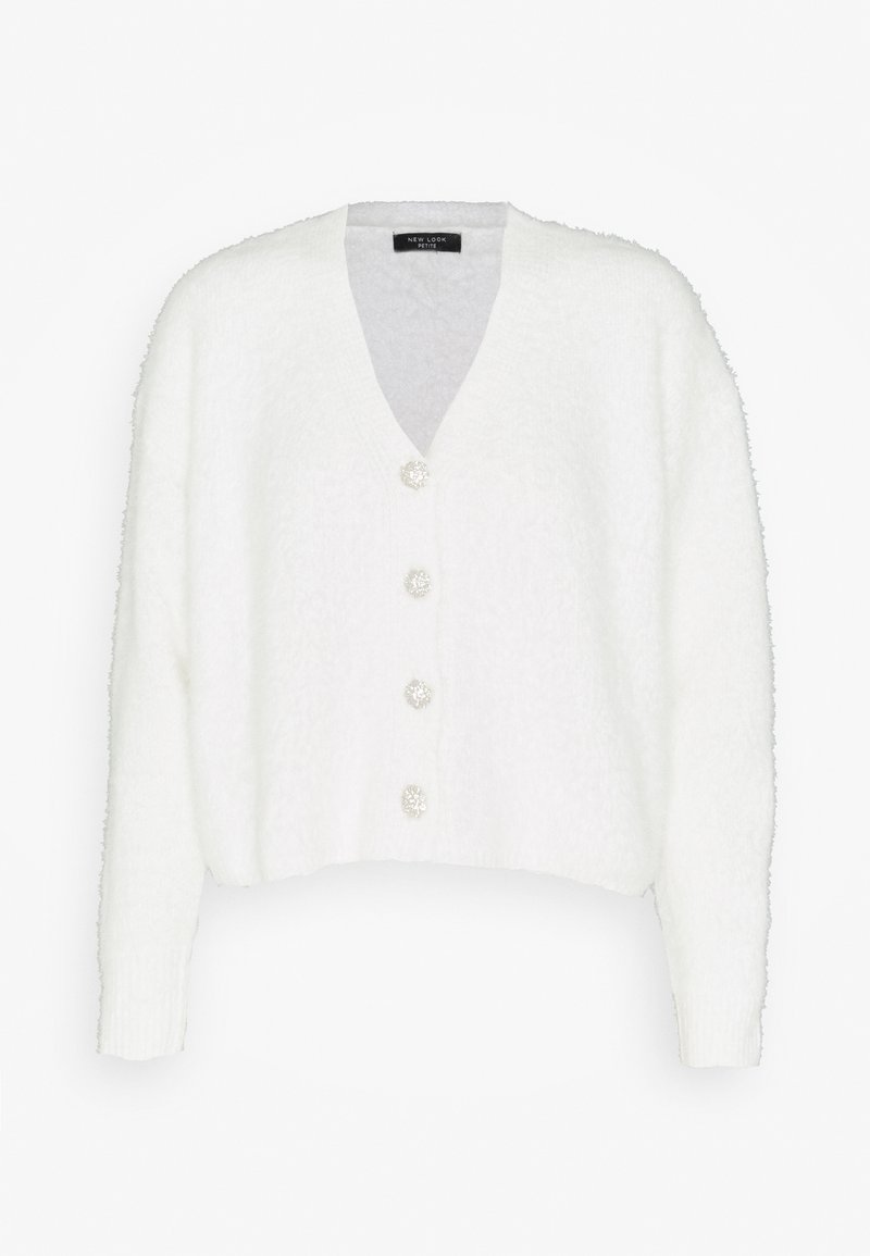 New Look Petite - FLUFFY CARDI - Kardigan - white