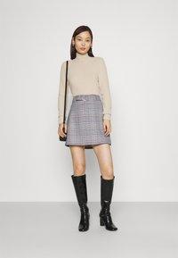 Gina Tricot - SAGA SKIRT - Mini skirt - blue - 1