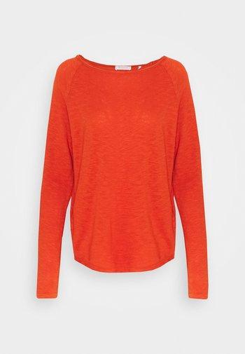 HEAVY LONGSLEEVE - Long sleeved top - rusty red