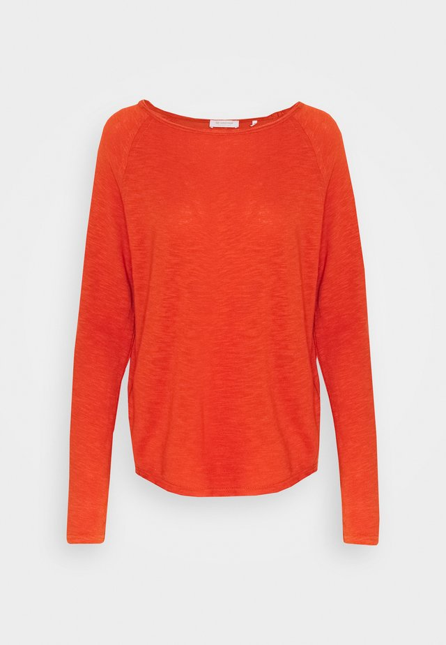 HEAVY LONGSLEEVE - Long sleeved top - rusty red