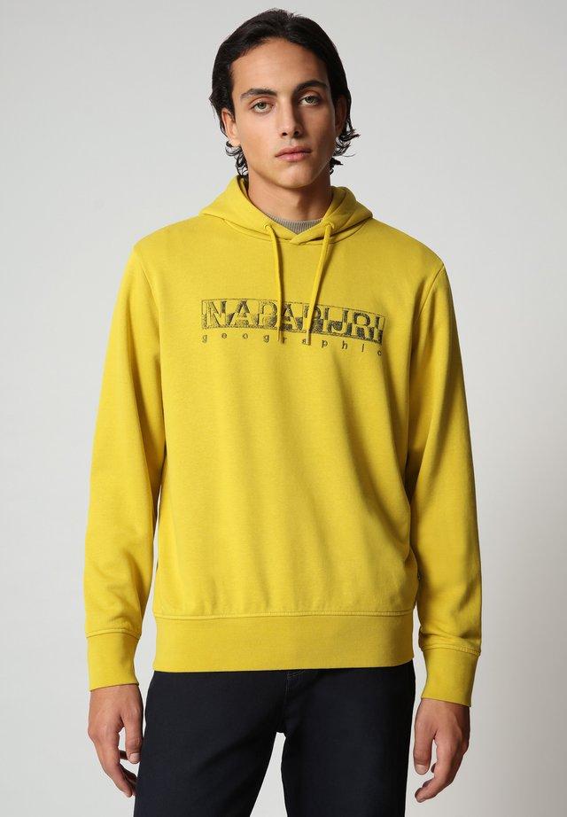 BALLAR  - Jersey con capucha - yellow moss