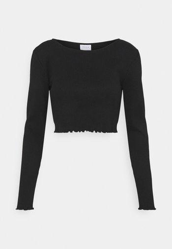 VIBALU CROPPED - Long sleeved top - black
