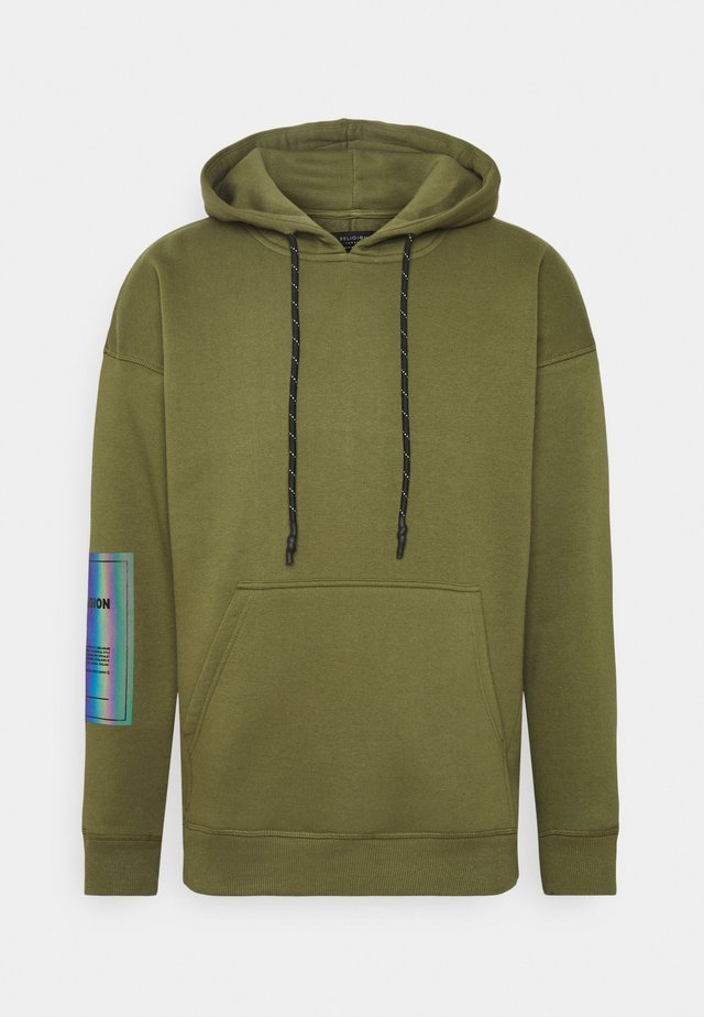 PLAIN HOODY - Sweat à capuche - dark olive