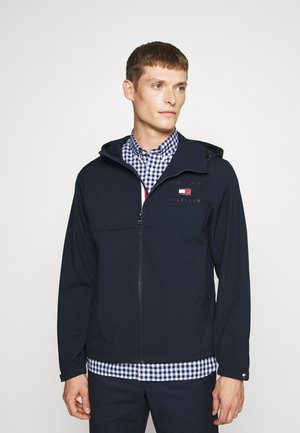 HOODED JACKET - Impermeabile - blue