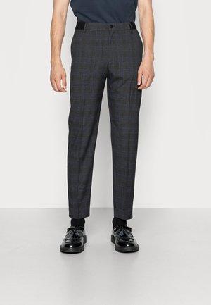 SLHSLIMTAPERED PETER - Trousers - dark grey