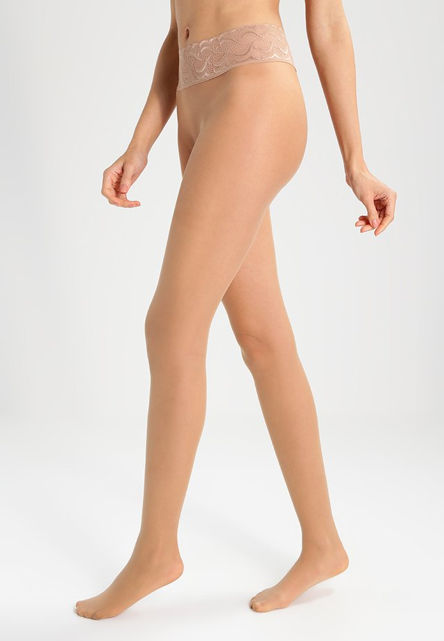 FALKE SENSATION 20 DENIER STRUMPFHOSE TRANSPARENT MATT  - Collant - powder