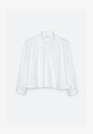 MIT SCHULTERPOLSTERN  - Overhemdblouse - white