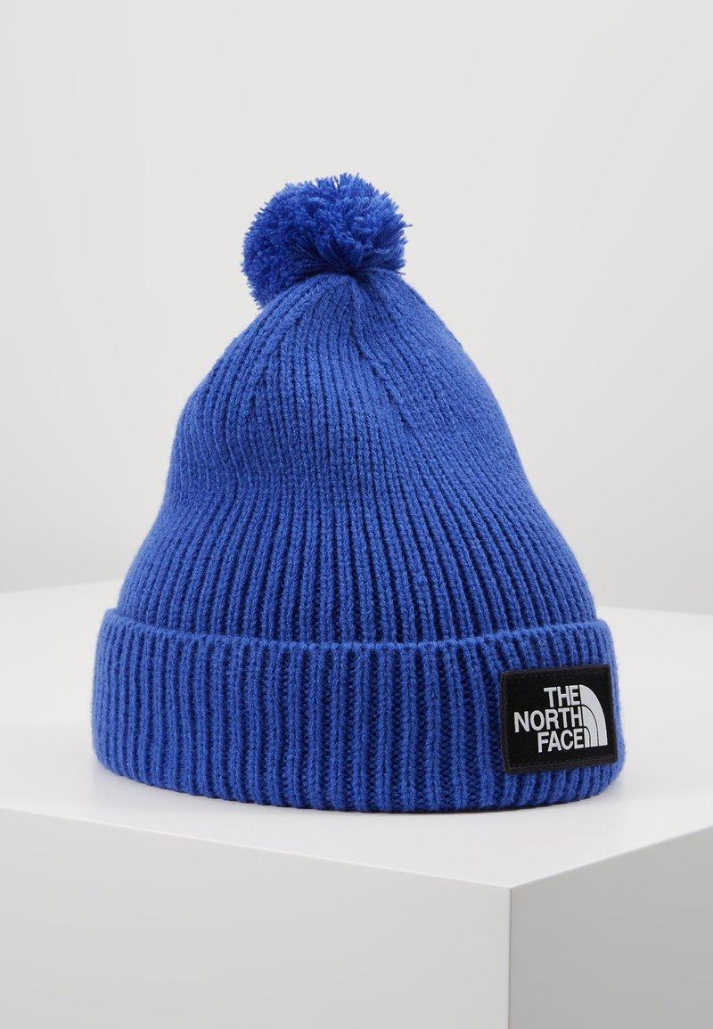 The North Face - LOGO BOX POM BEANIE UNISEX - Beanie - blue