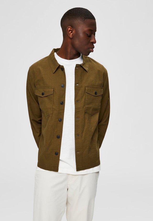 Camisa - dark olive