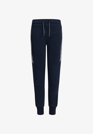 MET TAPE- EN BIKERDETAILS - Tracksuit bottoms - dark blue