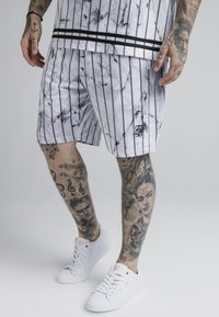 SIKSILK - MARBLE RELAXED - Shorts - white/grey - 0