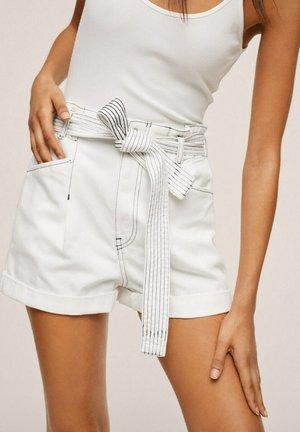 Denim shorts - gebroken wit