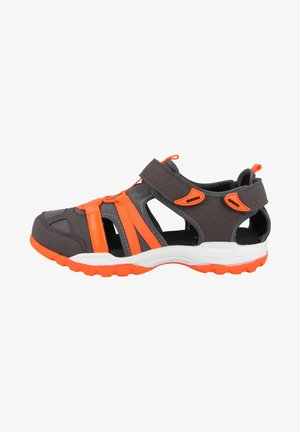 BOREALIS A - Walking sandals - dark grey/fluo orange