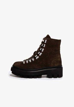 WANDA - Lace-up ankle boots - dark khaki