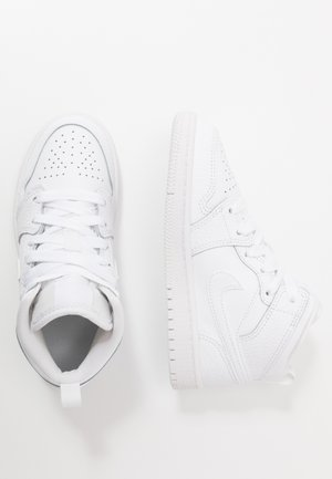 1 MID UNISEX - Basketball shoes - white