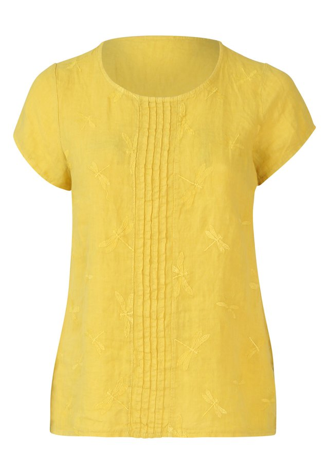 MIT STICKEREIEN - Blus - yellow