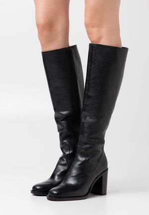 High heeled boots - noir
