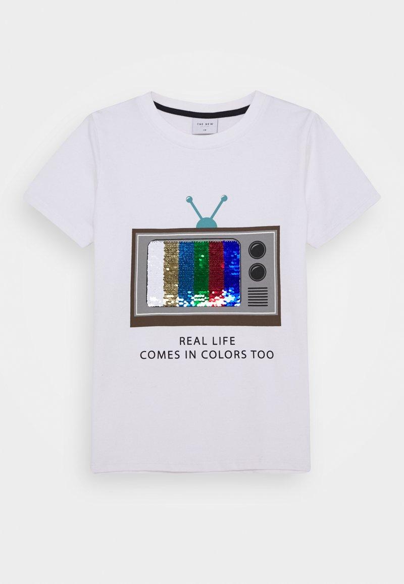 The New - RYAN TEE - Print T-shirt - bright white