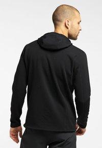 Haglöfs - BUNGY HOOD - Fleece jacket - true black - 1