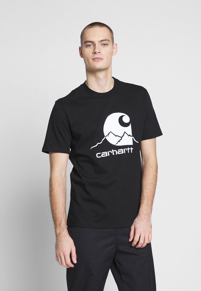 Carhartt WIP - OUTDOOR  - Print T-shirt - black/white