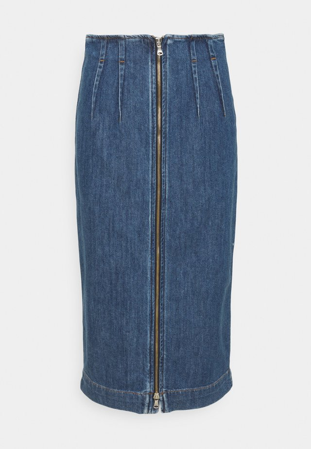 DOPPIA - Denim skirt - nachtblau