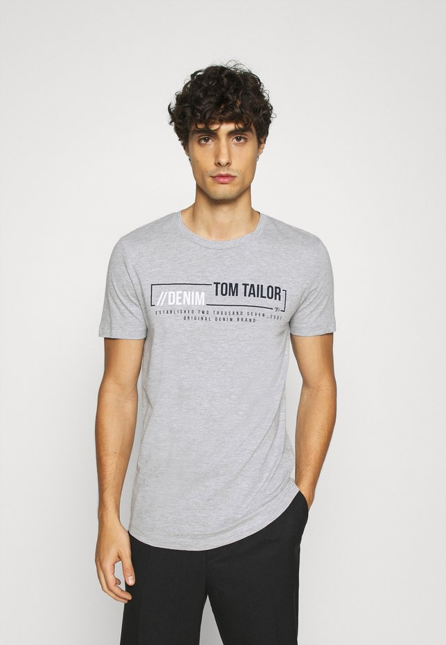 WITH PRINT - T-shirt con stampa - light stone/grey melange