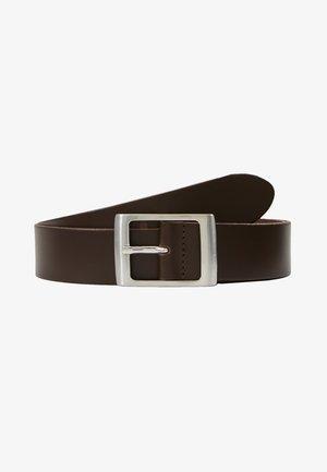LEATHER - Belte - dark brown