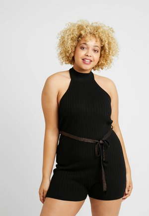PLUS TURTLE NECK ROMPER - Pyžamo - black