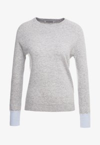 pure cashmere - CLASSIC CREW NECK - Jumper - light grey/baby blue - 3