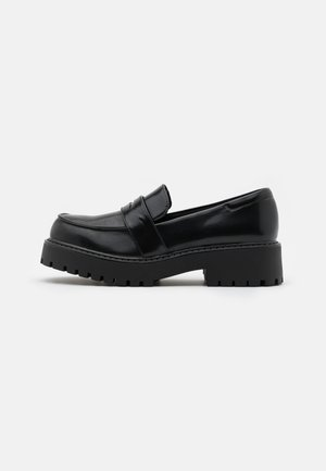 VEGAN JUNE LOAFER - Slip-ons - black dark